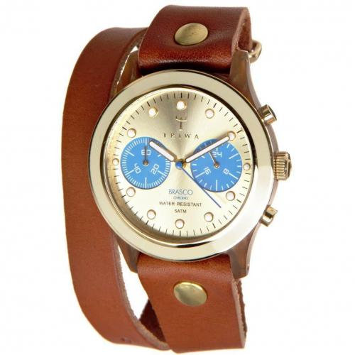 Triwa Brasco Chrono Turtle Twist Chronograph cognac