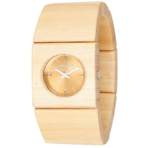 Vestal Rosewood Slim Uhr beige
