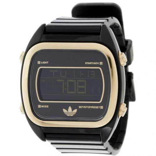 Digitaluhr schwarz mit Zifferblattbeleuchtung von adidas Originals