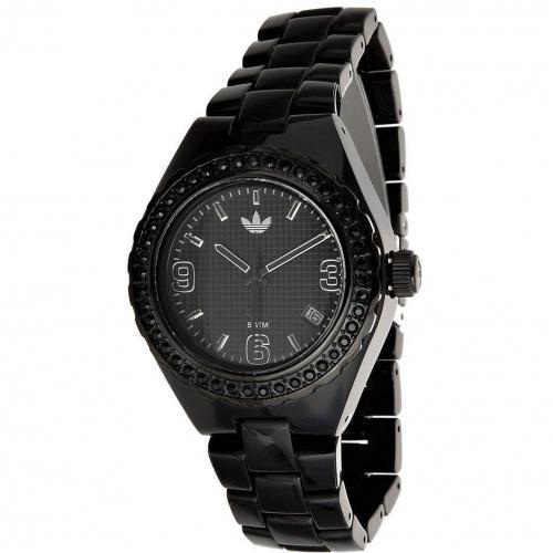 Uhr schwarz mit Steinen von adidas Originals