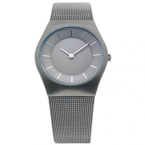 Uhr schwarz mit Clip-Schließe von Bering