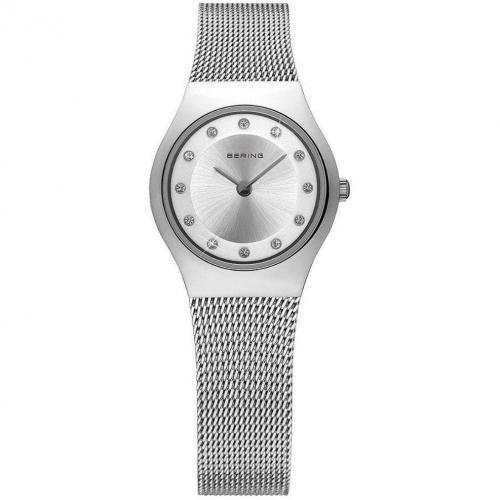Uhr silber mit nicht verschraubter Krone von Bering