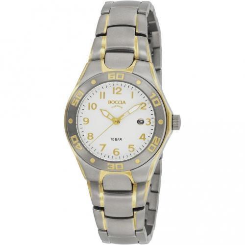 Uhr silber/gold 10bar wasserdicht von Boccia