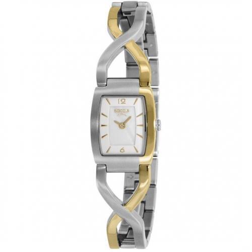 Uhr silbergold von Boccia