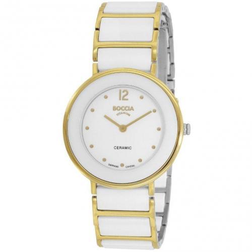 Uhr weiss/gold von Boccia