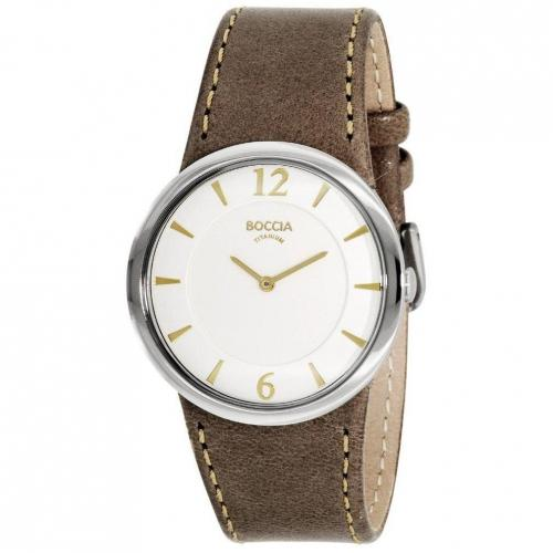 Uhr weiß mit präzisem Quarzwerk von Boccia