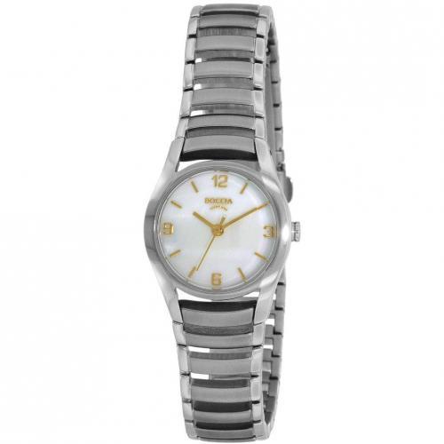 Uhr weiß/silber von Boccia