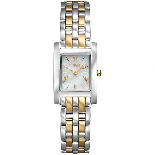 Damenuhr Klassik goldsilbernes Armband von Christ