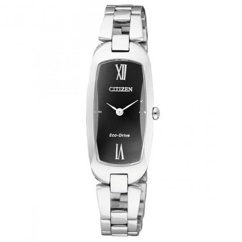 Uhr schwarz mit Antireflex-Glas von Citizen
