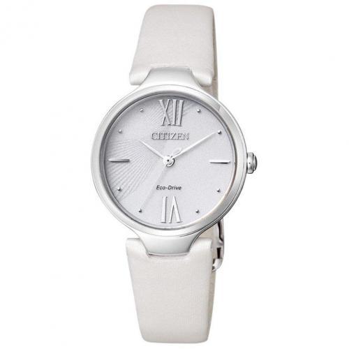 Uhr weiss mit Faltschließe von Citizen