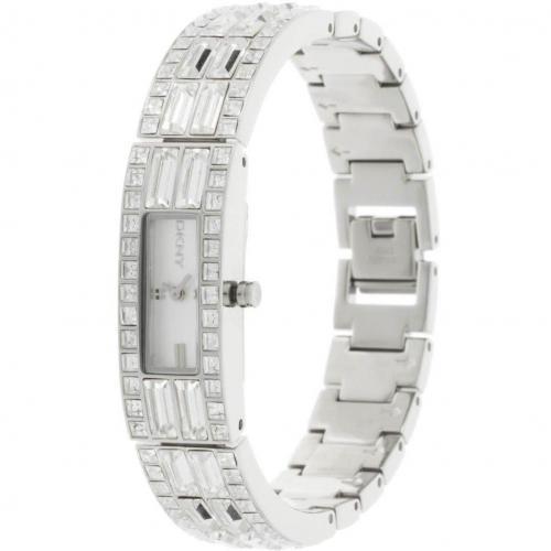 Uhr silber mit filigranem Gliederarmband von DKNY