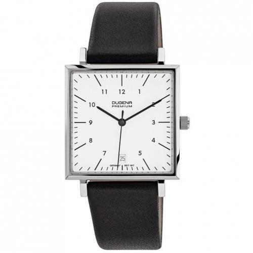 Uhr schwarzweiß von Dugena Premium