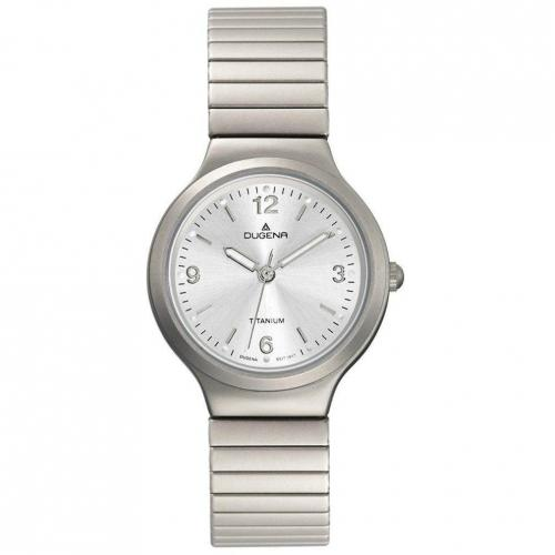 Uhr silber mit Quarzwerk von Dugena