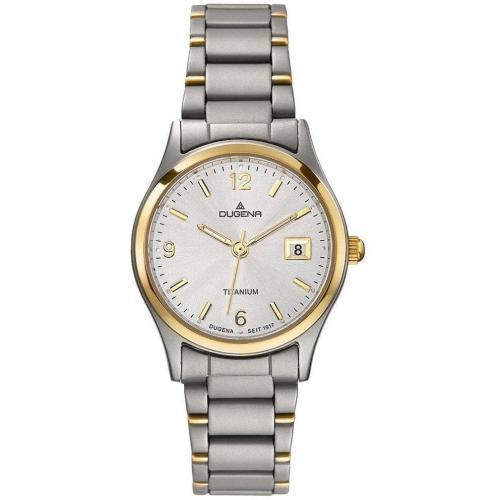 Uhr silber mit Titanium-Gehäuse von Dugena