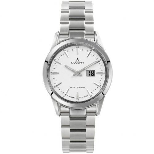 Uhr weiß mit bedampftem Glasboden von Dugena