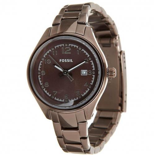 fossil am4383 uhr braun miss watch. Black Bedroom Furniture Sets. Home Design Ideas