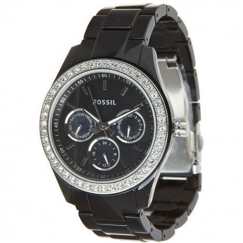 Damenuhren schwarz fossil  Fossil Es2157 Uhr schwarz | Miss Watch