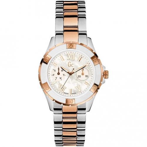 Uhr weiß/silber/roségold von Gc Watches