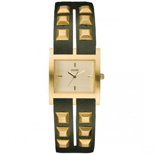 Studded Uhr oliv/gold von Guess