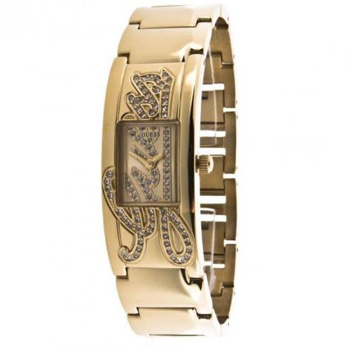Uhr gold mit Edelstahl-Armband von Guess