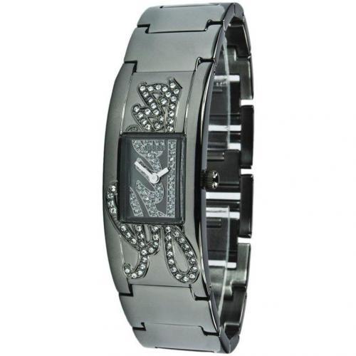 Uhr schwarz mit Datumsanzeige von Guess