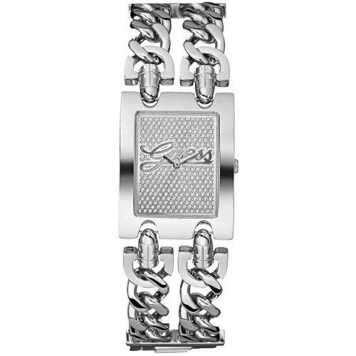 Uhr silber mit Edelstahl-Armband von Guess