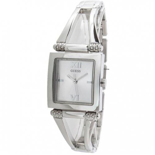 Uhr silber mit Mineralglas von Guess