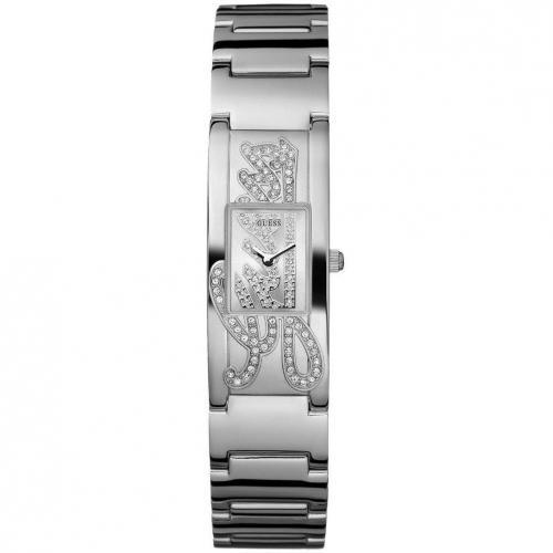 Uhr silber mit nicht verschraubter Krone von Guess