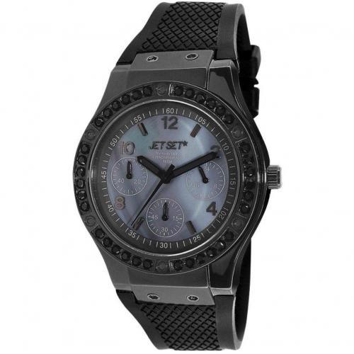Beverly Hills Uhr schwarz/grau von Jet Set
