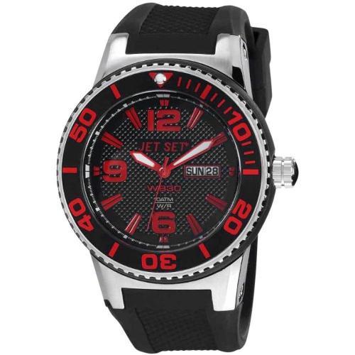 Uhr schwarzrot von Jet Set