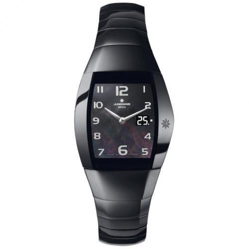 Aura Quadra Uhr schwarz mit ewigem Kalender von Junghans