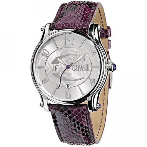 Eclipse Uhr silber/violett von Just Cavalli