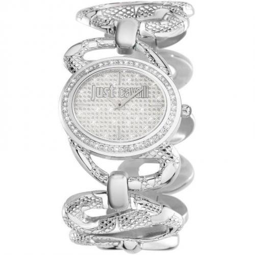 Sinuous Uhr silber von Just Cavalli