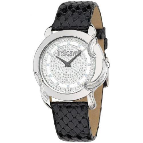Uhr schwarz mit Lederarmband von Just Cavalli