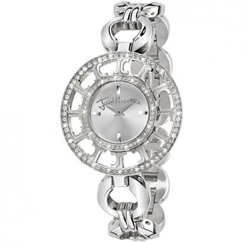 Uhr silber mit Edelstahl-Gehäuse von Just Cavalli