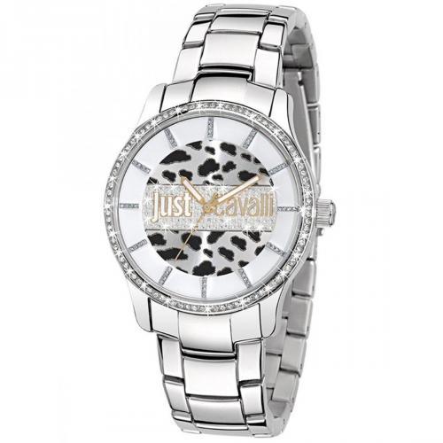Uhr silber mit Edelstahl-Lünette von Just Cavalli