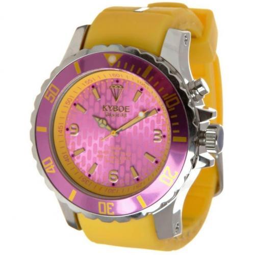 Silver Series Giant 48 Uhr dark pink von KYBOE
