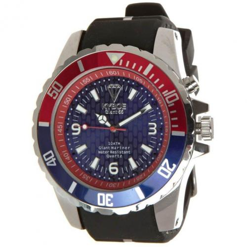 Silver Series Giant 55 Uhr blue/red von KYBOE