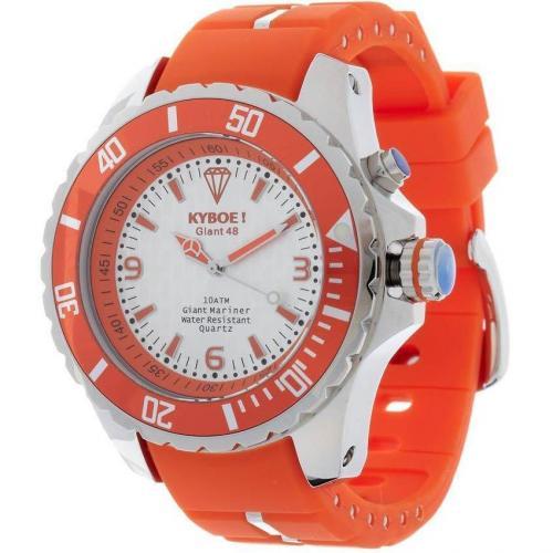 Uhr silver/orange von KYBOE