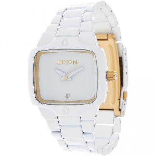 Small Player Uhr all white/gold von Nixon