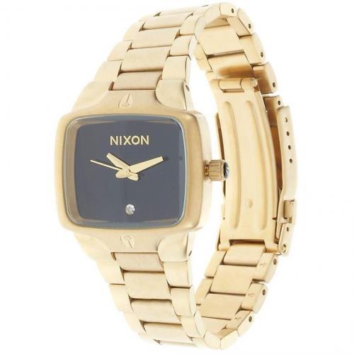 Small Player Uhr raw gold/black von Nixon