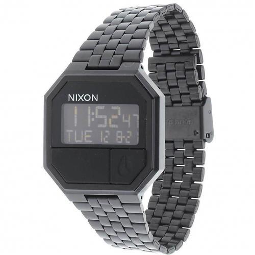 The Rerun Digitaluhr all black von Nixon