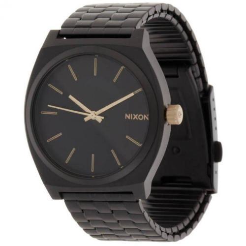 Time Teller Uhr matte black/gold von Nixon