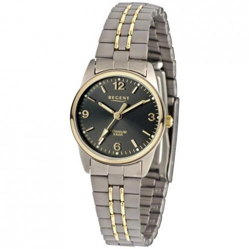 Uhr schwarz mit Faltschließe von Regent