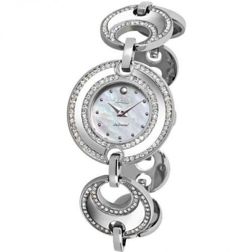 Uhr silber mit Kristallen von Regent