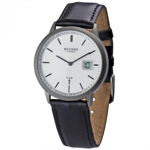 Uhr silber mit Mineralglas, antiallergisch von Regent