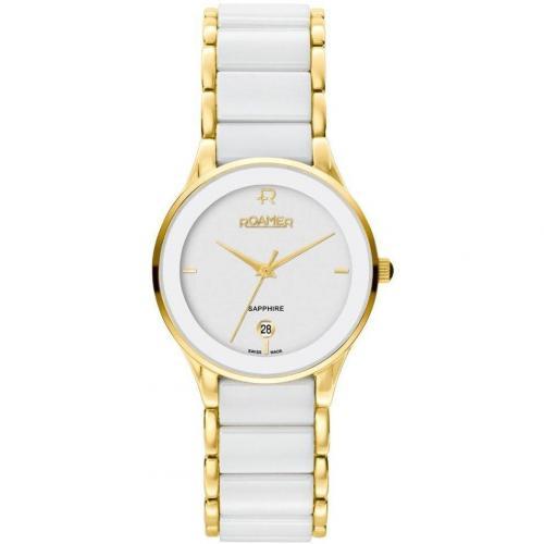 Ceraline Saphira Uhr weiß/gold von Roamer