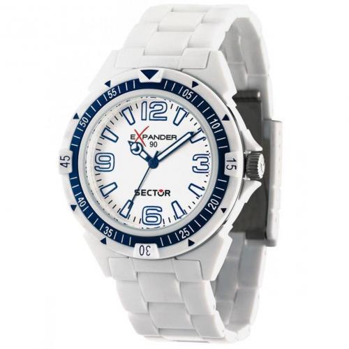 Uhr weiß mit Kunststoffarmband von Sector