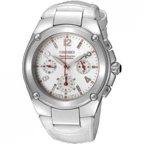 Sportura Uhr silber mit nicht verschraubter Krone von Seiko