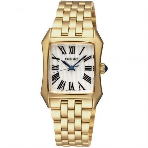 Uhr gold mit Edelstahl-Lünette von Seiko